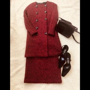 Dresses & Skirts - Vintage sweater jacket and skirt set size S